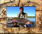 Trout Fishing Laser Engraved Wood Picture Frame