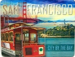 San Francisco with Trolley 3D Fridge Magnet