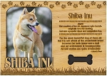 Shiba Inu Engraved Wood Picture Frame Magnet
