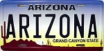 Arizona License Plate Novelty Fridge Magnet