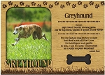Greyhound Engraved Wood Picture Frame Magnet