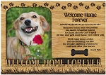 Welcome Home Forever Engraved Wood Picture Frame Magnet