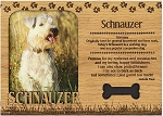 Schnauzer Engraved Wood Picture Frame Magnet