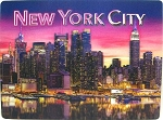 New York City Hudson River Reflection 3D Postcard