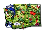 Washington the Evergreen State Artwood Jumbo Fridge Magnet