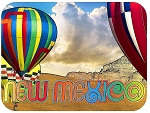 New Mexico with Hot Air Balloons Fridge Magnet