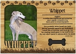 Whippet Engraved Wood Picture Frame Magnet