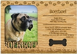 Boerboel Engraved Wood Picture Frame Magnet