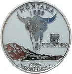 Montana State Quarter Fridge Magnet