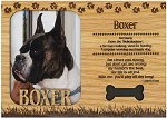 Boxer Cropped Engraved Wood Picture Frame Magnet