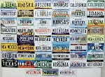 All 50 State License Plate Metal Fridge Magnets Plus Washington D.C.