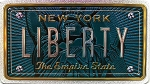 New York The Empire State Liberty Foil Panoramic Dual Sided Fridge Magnet