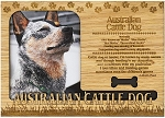 Australian Cattle Dog Engraved Wood Picture Frame Magnet