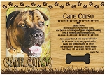 Cane Corso Engraved Wood Picture Frame Magnet