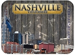 Nashville Tennessee Music Skyline Fridge Magnet