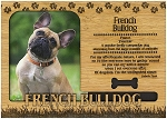 French Bulldog Engraved Wood Picture Frame Magnet