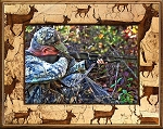Deer Scatter Laser Engraved Wood Picture Frame (5 x 7)