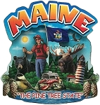 Maine Montage Artwood Fridge Magnet