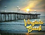 Virginia Beach with Pier Highlight Fridge Magnet