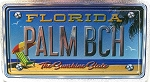 Palm Beach Florida The Sunshine State Foil Panoramic Dual Sided Fridge Magnet