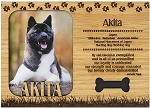 Akita Engraved Wood Picture Frame Magnet