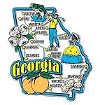 Georgia Jumbo State Map Fridge Magnet