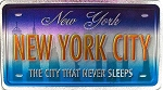 New York City New York Foil Panoramic Dual Sided Fridge Magnet