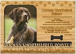 German Shorthaired Pointer Engraved Wood Picture Frame Magnet