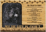 My Heart is Quiet Engraved Wood Picture Frame Magnet