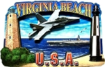 Virginia Beach Artwood Fridge Magnet