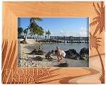 Florida Keys Laser Engraved Wood Picture Frame