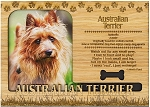 Australian Terrier Engraved Wood Picture Frame Magnet
