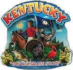 Kentucky Montage Artwood Magnet