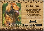 My Best Friend Engraved Wood Picture Frame Magnet