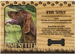 Irish Setter Engraved Wood Picture Frame Magnet