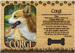 Corgi Engraved Wood Picture Frame Magnet
