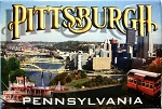 Pittsburgh Pennsylvania 3 Views of the City Fridge Magnet