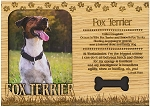 Fox Terrier Engraved Wood Picture Frame Magnet