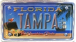 Florida The Sunshine State Tampa Foil Panoramic Dual Sided Fridge Magnet