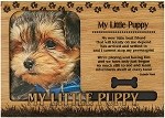 My Little Puppy Engraved Wood Picture Frame Magnet