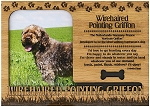 Wirehiared Pointing Griffon Engraved Wood Picture Frame Magnet