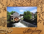 Mayberry North Carolina Laser Engraved Wood Picture Frame