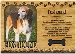 Foxhound Engraved Wood Picture Frame Magnet