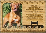 Dogue de Bordeaux Engraved Wood Picture Frame Magnet