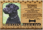 Portuguese Water Dog Engraved Wood Picture Frame Magnet