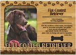 Flat Coated Retriever Engraved Wood Picture Frame Magnet
