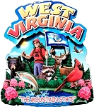 West Virginia the Mountain State Artwood Montage Fridge Magnet