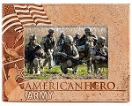 Army American Hero Laser Engraved Wood Picture Frame