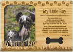My Little Boy Engraved Wood Picture Frame Magnet