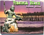 Virginia Beach Neptune Statue with Pier Highlight Fridge Magnet